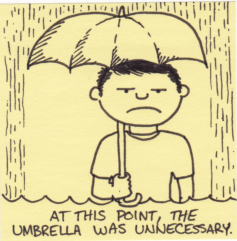 At This Point The Umbrella Was Unnecessary on cartoon mushrooms