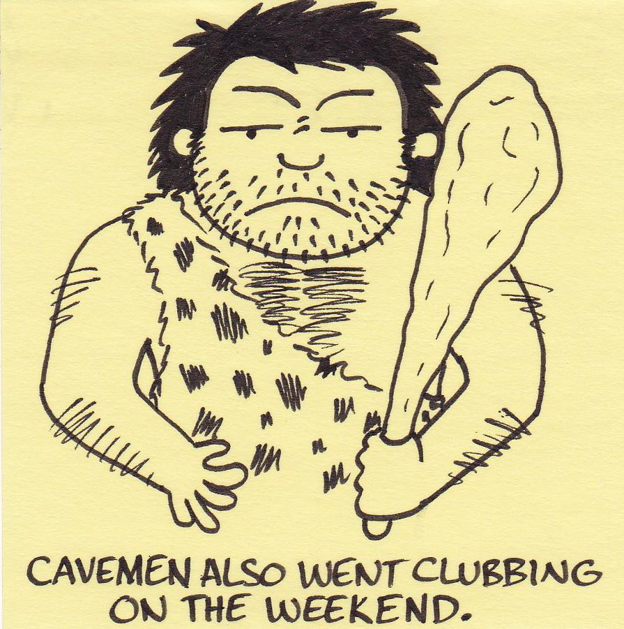 how to make a caveman club