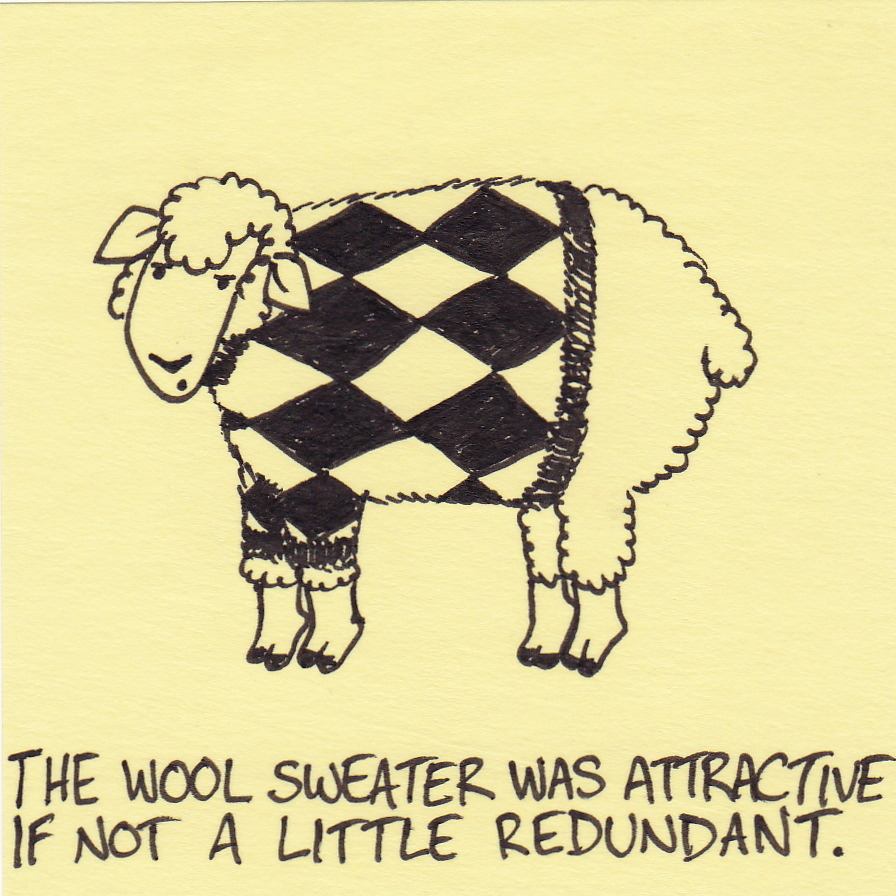 The wool sweater was attractive… | Inkjot