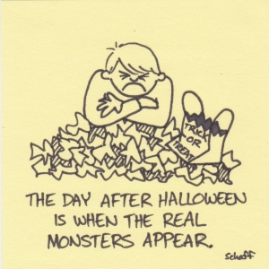 real monsters come after halloween