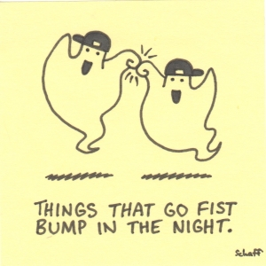 fist bump in the night